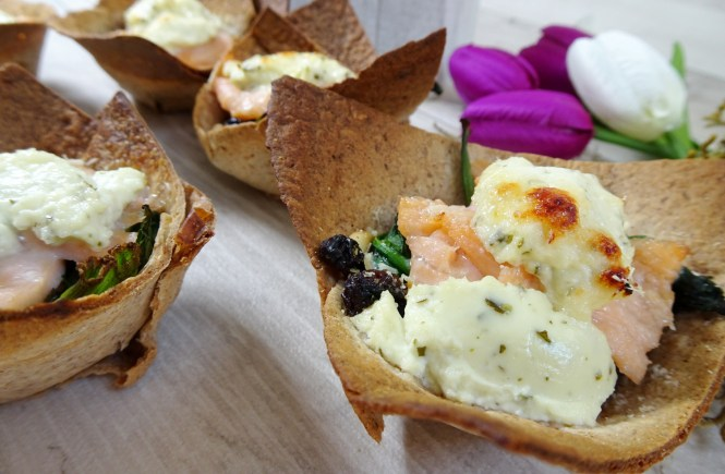 mini tortilla cups lachs