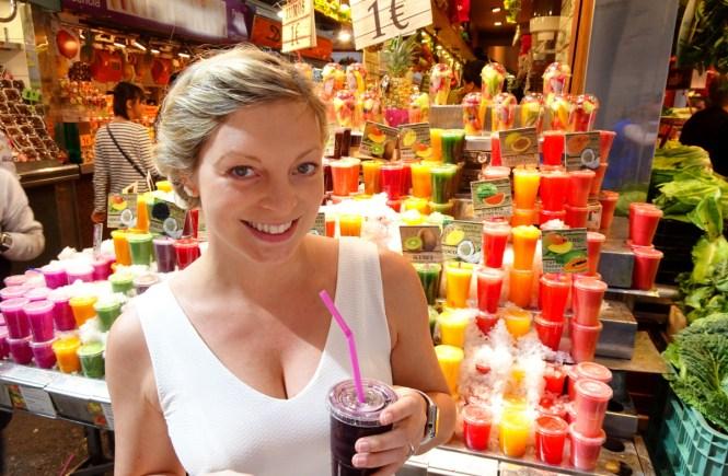 barcelona sightseeing fruchtsaft markt