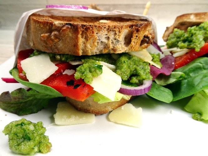 sandwich walnuss pesto rezept