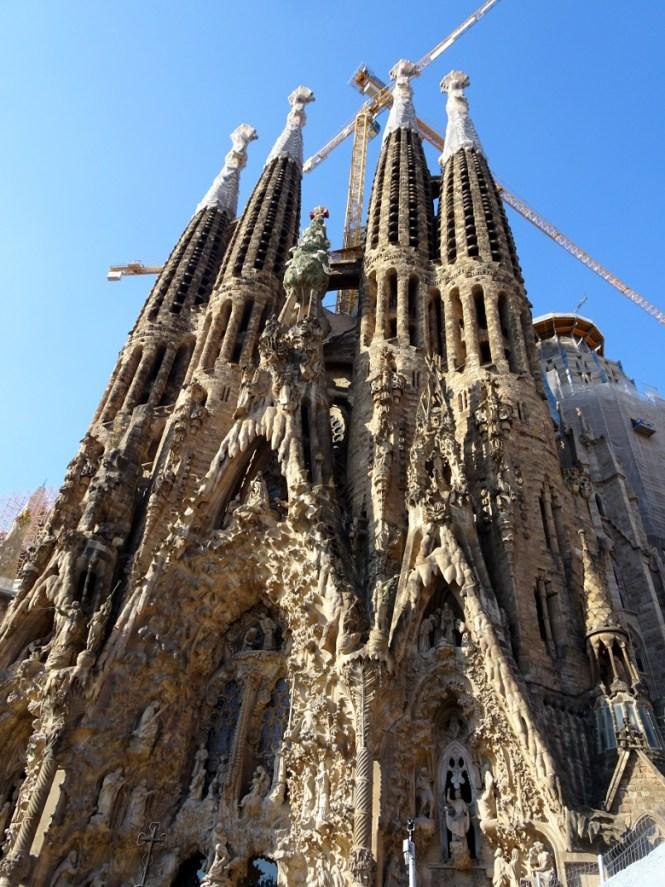 barcelona citytrip fassade sagrada familia