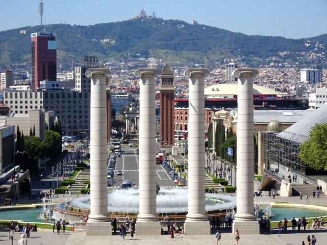 barcelona citytrip placa d espanya strand städtereise