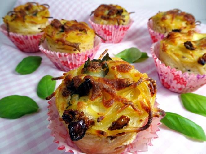 spaghetti muffins basilikum