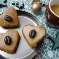 Weihnachtsplätzchen Kaffee Herzen