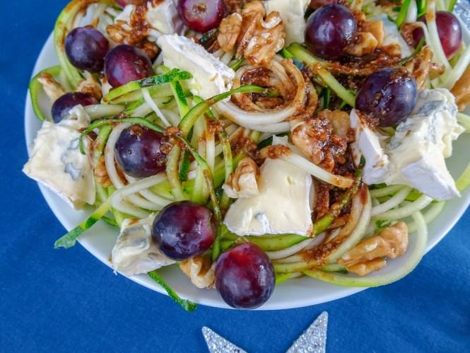 Zucchinisalat mit Blauschimmelkäse