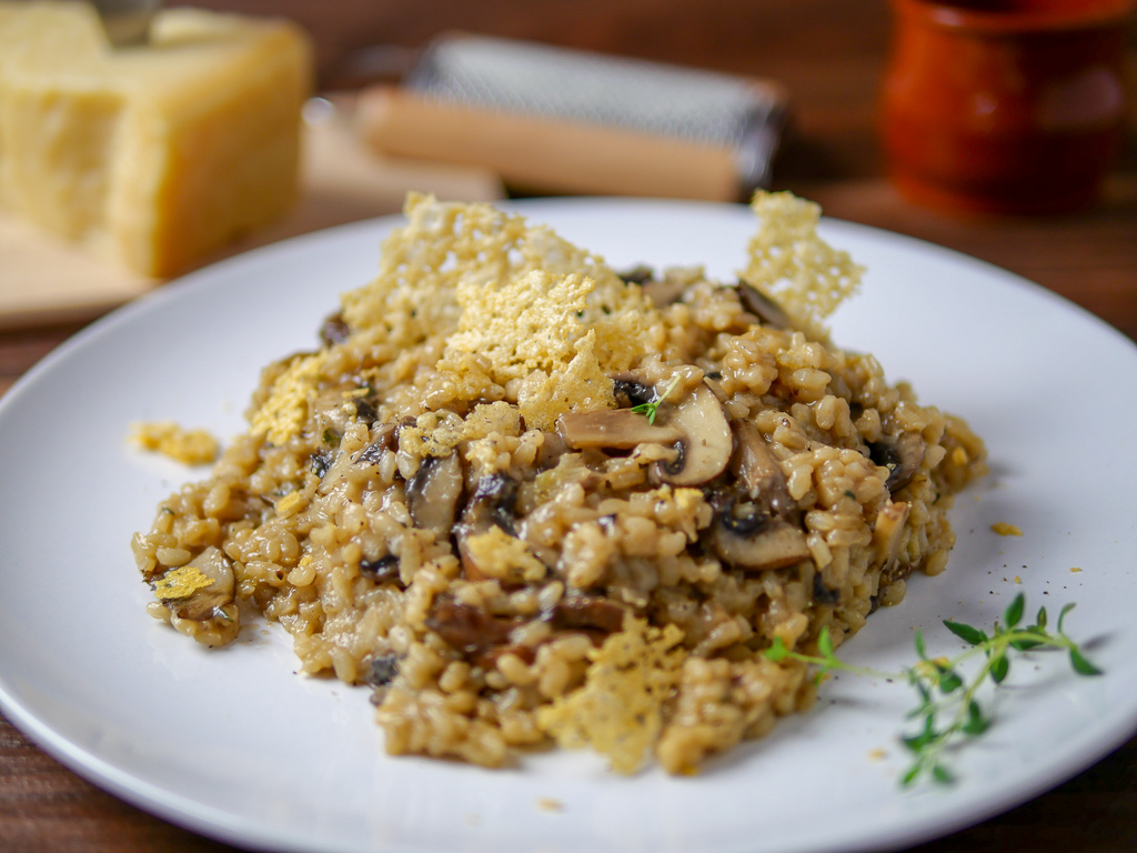 Cremiges Pilz Risotto