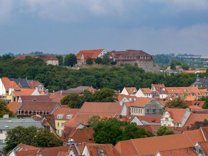 Aussicht auf die Zitadelle vom Ägidienturm Erfurt