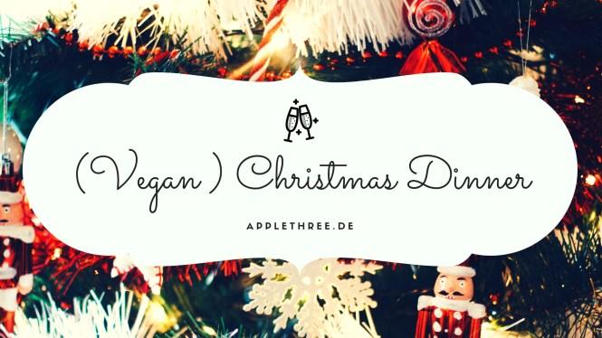 Veganes Weihnachtsmenü (Vegan ) Christmas Dinner Banner