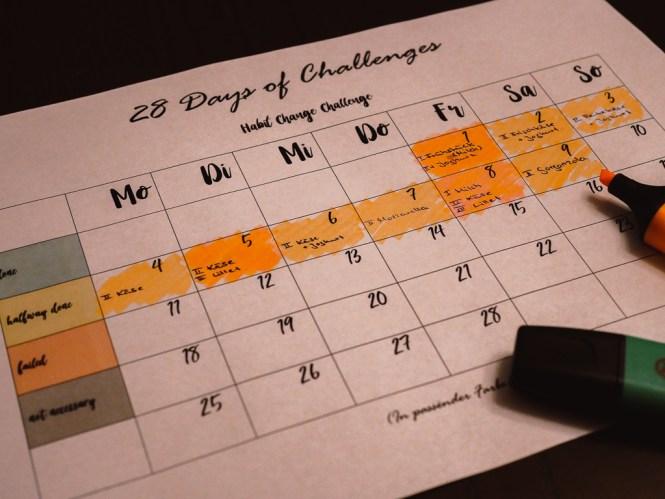 habit change challenge