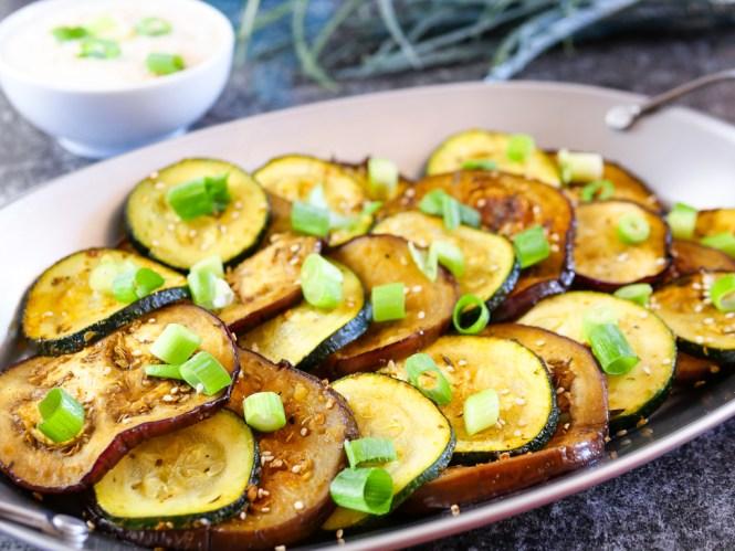 aubergine grillen zucchini vegan vegetarisch
