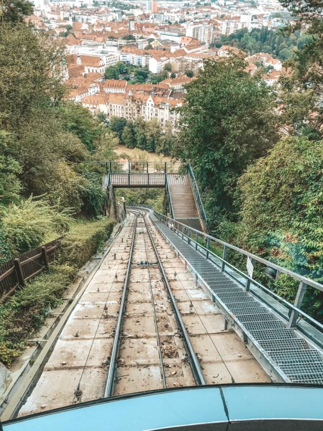 graz österreich schlossbergbahn