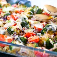 Brokkoli Nudelauflauf vegetarisch