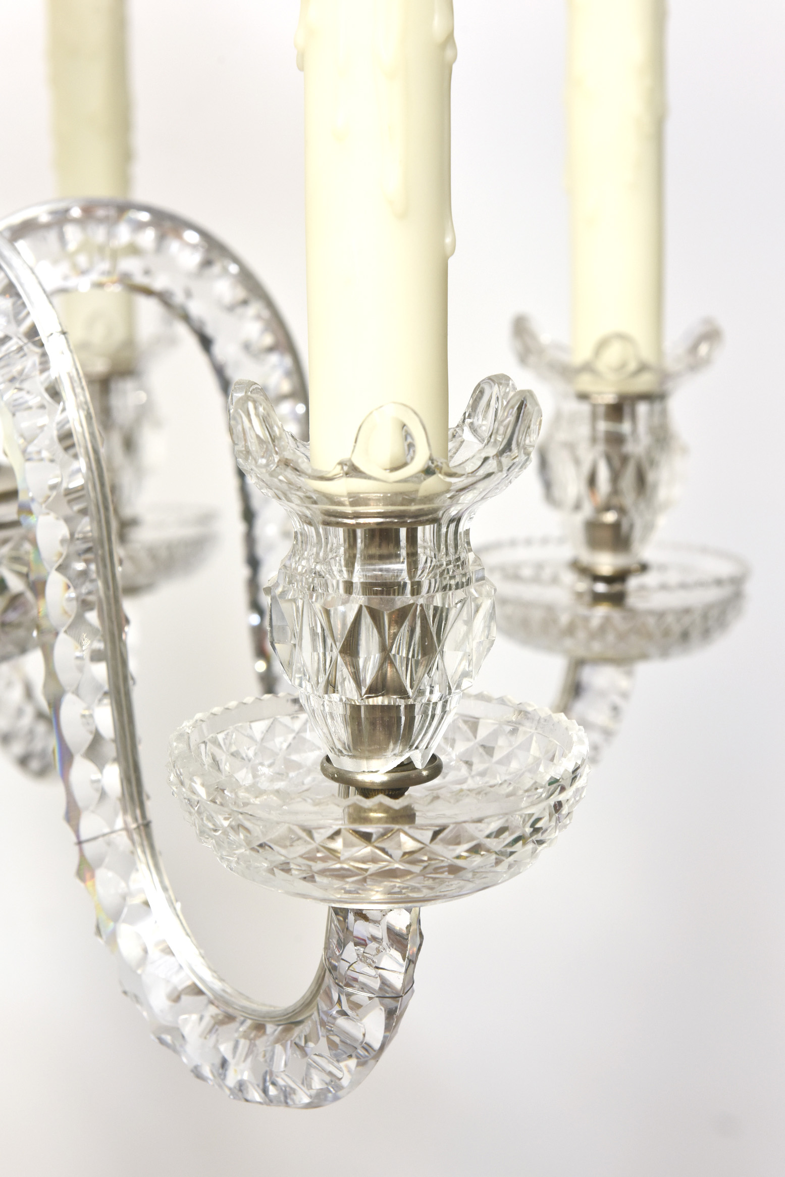 Six Arm Early Waterford Chandelier Appleton Antique Lighting