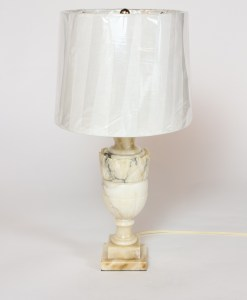 T286: Small Alabaster Table Lamp