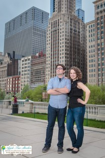 Millenium Park Chicago Engagement Photos-1