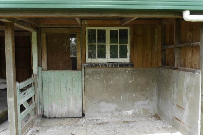Before: Entrance to the cowshed