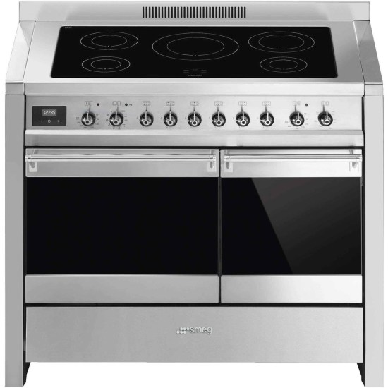 Smeg A2PYID-81 A2PYID-8 Opera Stainless Steel 100cm Electric Range Cooker with Induction Hob & Multifunction Pyrolytic O