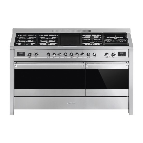 Smeg A5-81 Opera Dual Cavity 150cm Dual Fuel Range Cooker with Electric Griddle - Stainless Steel
