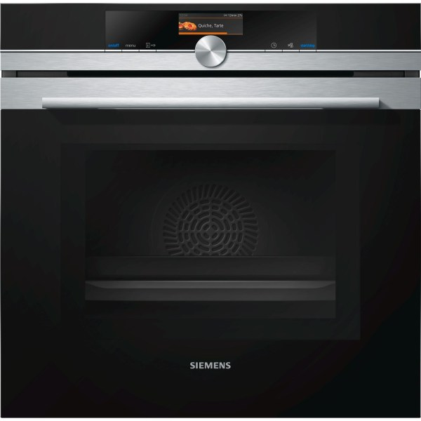 Siemens HM676G0S6B iQ700 Stainless Steel Built-in Combination Microwave Oven With TFT touchDisplay And Pyrolytic Cleanin