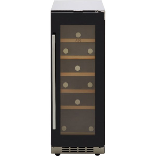AEG SWE63001DG Integrated Wine Cooler in Black Glass