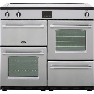 Belling Farmhouse100Ei Free Standing Range Cooker in Silver