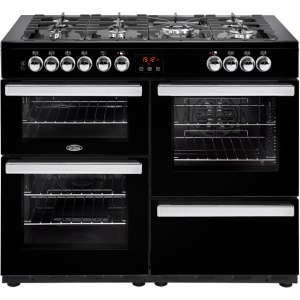 Belling Cookcentre110DFT Free Standing Range Cooker in Black