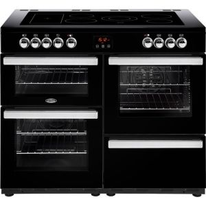 Belling Cookcentre110E Free Standing Range Cooker in Black