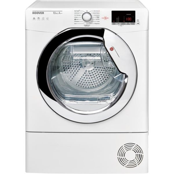 Hoover Dynamic Next DXWH11A2DCEXM Free Standing Heat Pump Tumble Dryer in White / Chrome