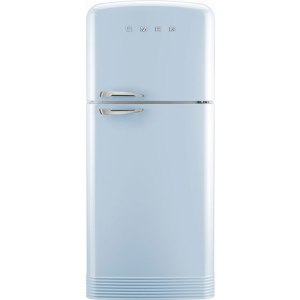 Smeg Right Hand Hinge FAB50RPB Free Standing Fridge Freezer Frost Free in Pastel Blue