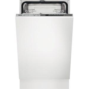 AEG FSB51400Z Integrated Slimline Dishwasher in Silver