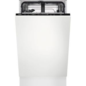AEG FSE62407P Integrated Slimline Dishwasher in Black