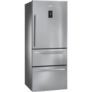 Smeg FT41BXE Free Standing Fridge Freezer Frost Free in Stainless Steel