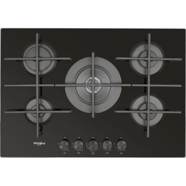 Whirlpool W Collection GOW7553/NB Integrated Gas Hob in Black