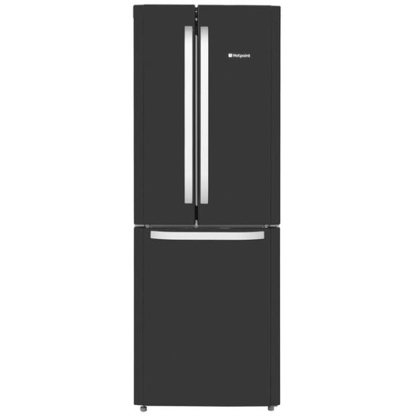 Hotpoint Day1 FFU3D.1K Free Standing Fridge Freezer Frost Free in Black