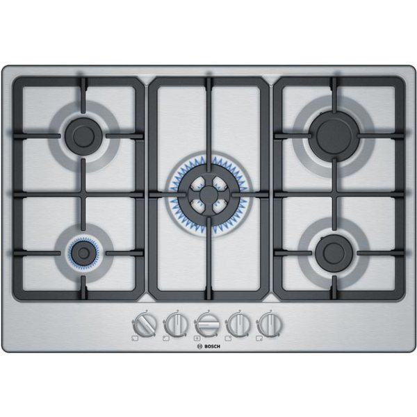 Bosch Serie 4 PGQ7B5B90 Integrated Gas Hob in Stainless Steel