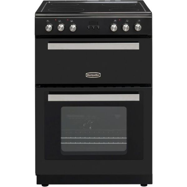 Montpellier RMC61CK Free Standing Cooker in Black