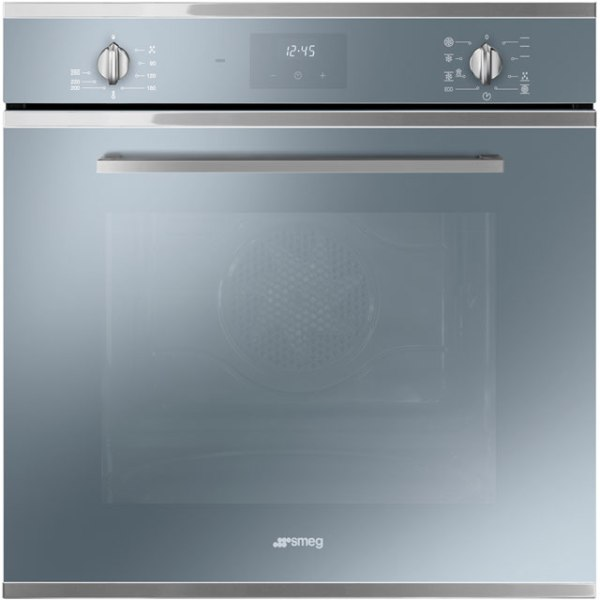 Smeg Cucina SF6400TVS Integrated Single Oven in Silver Glass