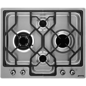 Smeg Classic PGF64-4 Integrated Gas Hob in Stainless Steel
