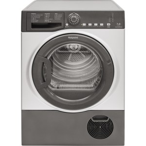 Hotpoint Aquarius TCFS73BGG Free Standing Condenser Tumble Dryer in Graphite