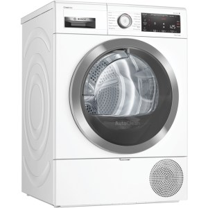 Bosch Serie 8 WTX88RH9GB Free Standing Heat Pump Tumble Dryer in White