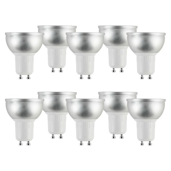 electriQ Smart dimmable colour Wifi Bulb with GU10 short spotlight fitting - Alexa & Google Home compatible - 10 Pack