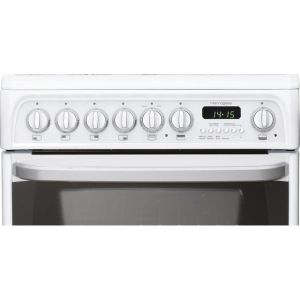Cannon by Hotpoint Harrogate CH60DHWFS Dual Fuel Cooker - White - B/B Rated - Needs 6.3KW Electrical Connection