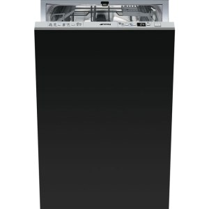 Smeg DI410T Fully Integrated Slimline Dishwasher - Stainless Steel Control Panel with Fixed Door Fixing Kit - A+ Rated