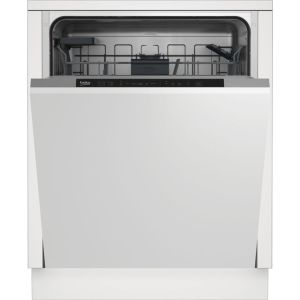 Beko DIN16430 Fully Integrated Standard Dishwasher - White Control Panel - A+++ Rated