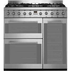 Smeg Symphony SY93 90cm Dual Fuel Range Cooker - Stainless Steel - A/B Rated