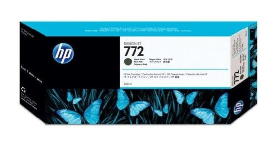 HP 772 Matte Black Original Ink Cartridge - Standard Yield 300ml - CN6