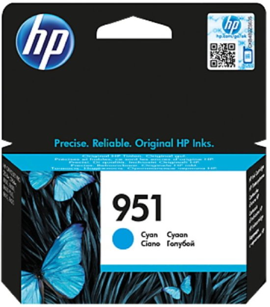 HP 951 Cyan Original Ink Cartridge - Standard Yield 700 Pages - CN050A