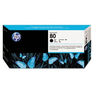 HP 80 Black Original Printhead & Printhead Cleaner For use with -