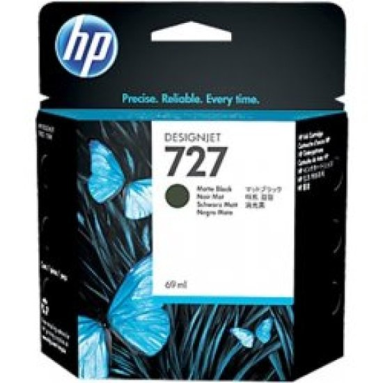 HP 727 Matte Black Original Designjet Ink Cartridge - High Yield 300ml