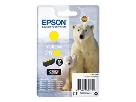 Epson 26XL Yellow Inkjet Cartridge