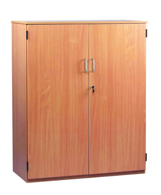 Stock Cupboard 18mm FSC Certified Beech MFC - 1 Fixed And 2 Adjustable